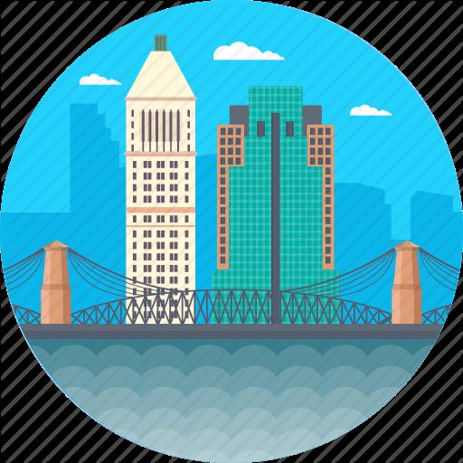 Brooklyn Bridge, Cincinnati Ohio, Downtown Cincinnati From Devou