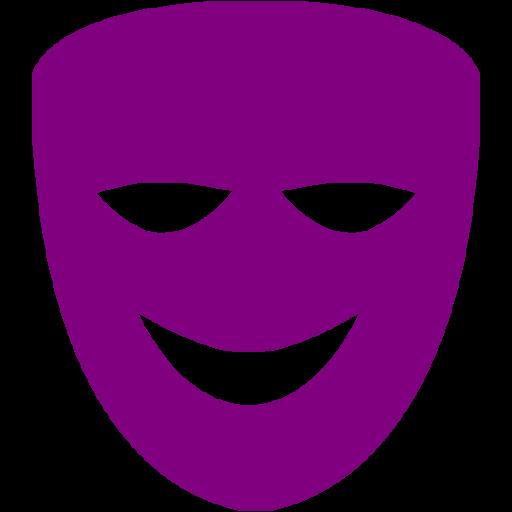 Purple Comedy Mask Icon