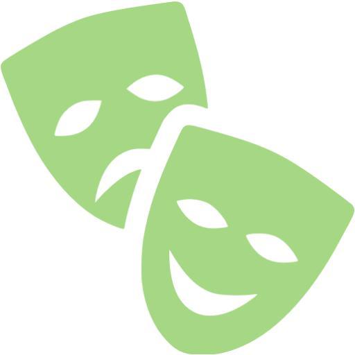 Guacamole Green Theatre Masks Icon