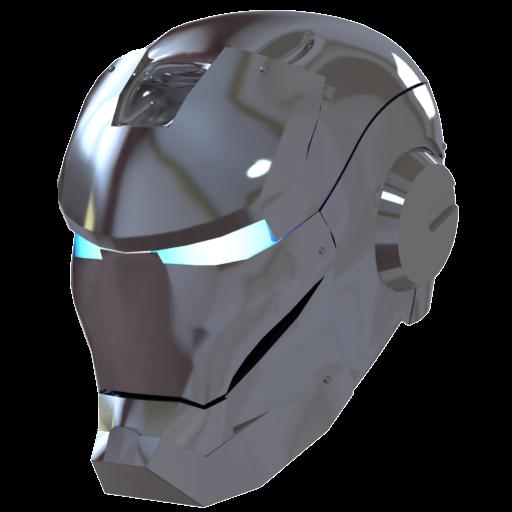 Silver Iron Man Mask