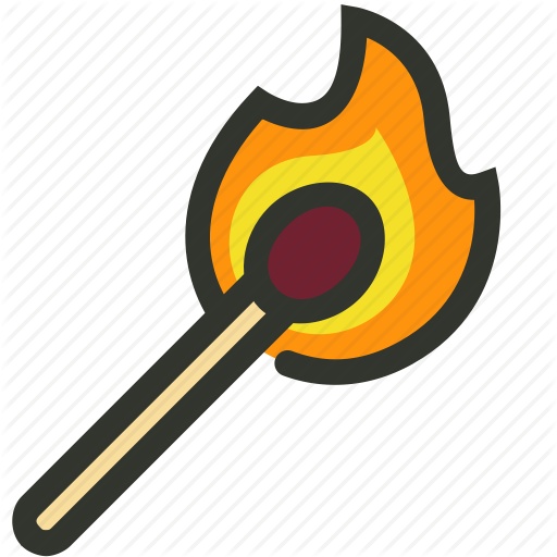 Burn, Fire, Flame, Match Icon