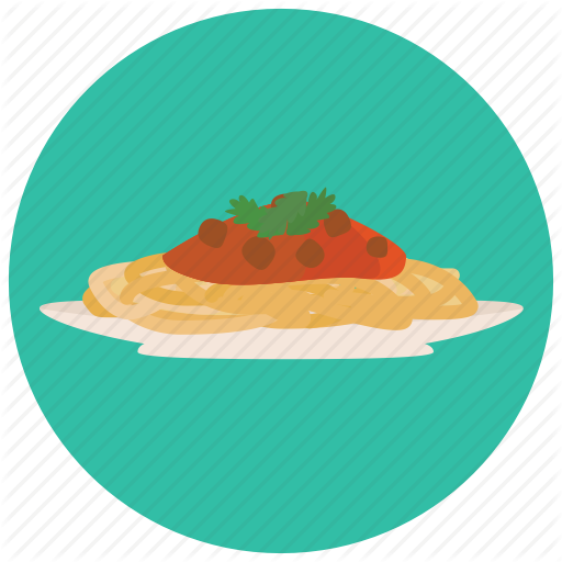 Cooking, Food, Meals, Plate, Sauce, Spaghetti Icon