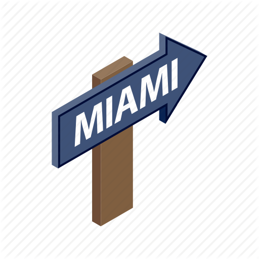 Arrow, City, Direction, Guide, Isometric, Miami, Travel Icon