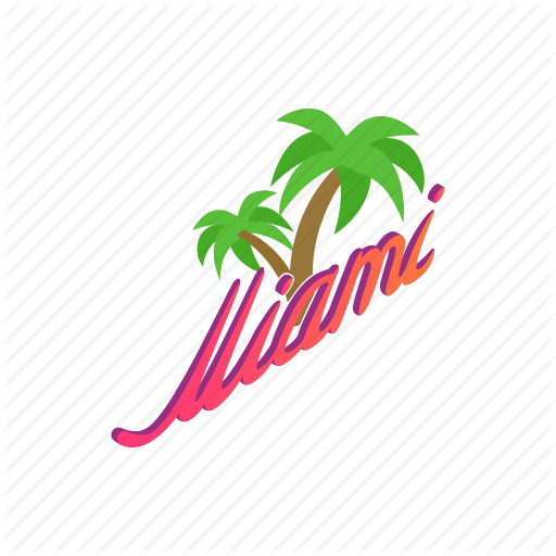 Beach, Isometric, Miami, Nature, Palm, Summer, Trees Icon