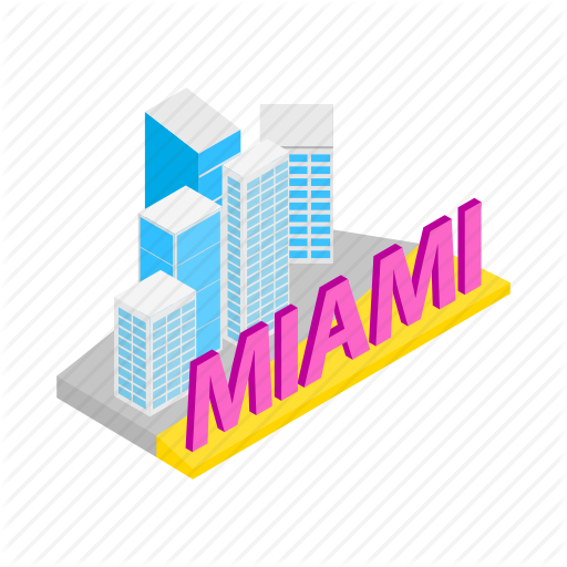 Building, City, Cityscape, Isometric, Miami, Skyline, Skyscraper Icon