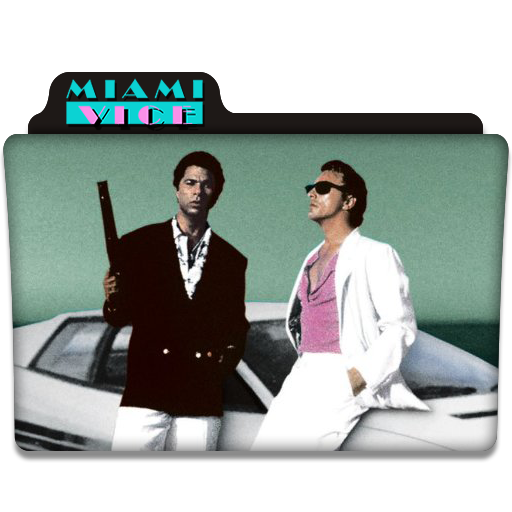Miami Vice Tv Series Folder Icon