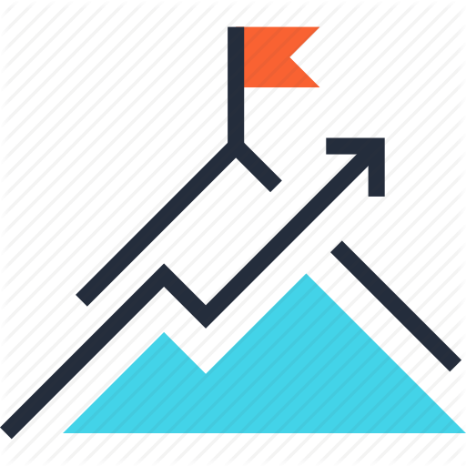 Achievement, Chart, Flag, Goal, Mission, Mountain, Success Icon