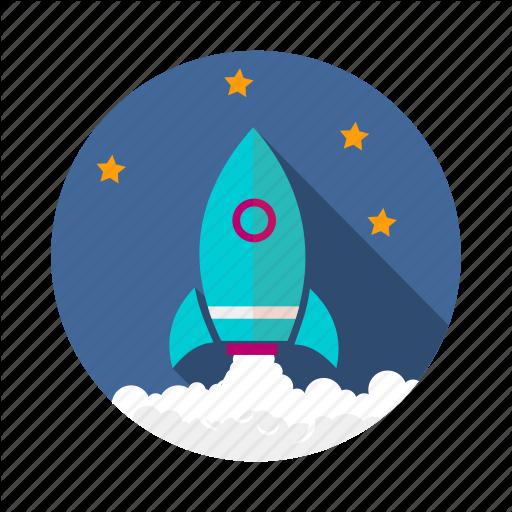 Achievement, Goal, Growth, Mission, Profit, Rocket, Vision Icon