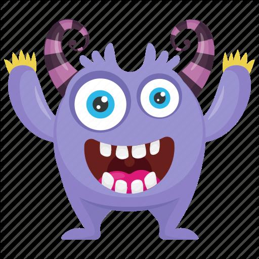 Alien, Alien Victory Monster, Cartoon Monster, Monster Character