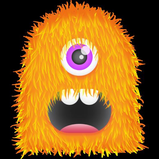 Orange Monster Png