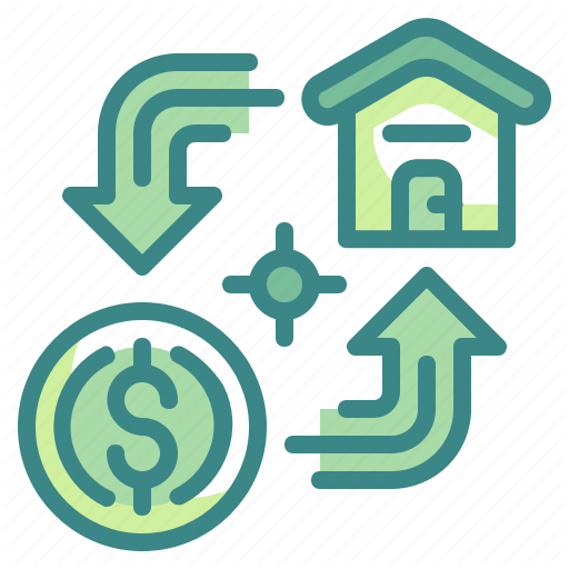 Business, Coin, House, Loan, Money, Mortgage, Property Icon
