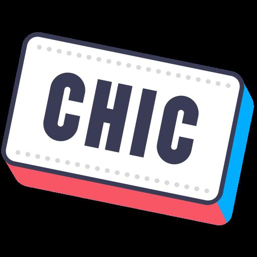 Chic, Chik, Layer, Photo, Sticker, Word Icon