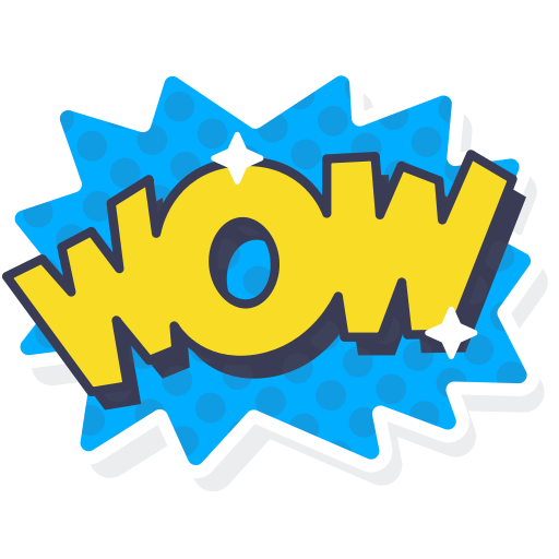 Excited, Layer, Photo, Sticker, Word, Wow Icon