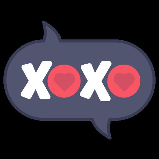 Kiss, Layer, Message, Photo, Sticker, Word, Xoxo Icon