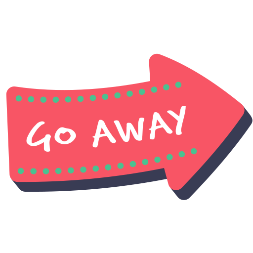Word, Go Away, Sticker, Next, Signal, Layer Icon Free Of Photo