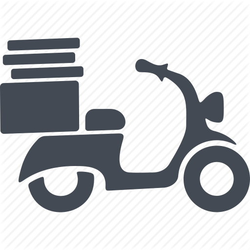 Boxes, Motorcycle, Pizza, Pizza Delivery Icon