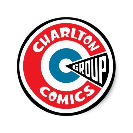 Charlton Comics Logo Charlton Comics Logo Gear Round Sticker