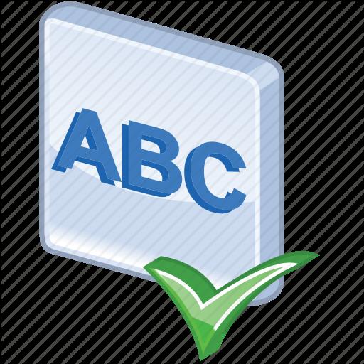 Abc, Accept, Check Spelling, Checking, Exam, Examination, Mark, Ok