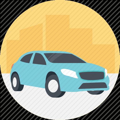 Blue Car, Cheap Car, Driving A Blue Car, Family Car, Rental Car Icon