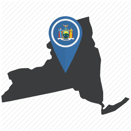 America, Flag, Location, Map, Newyork, State, United States Icon