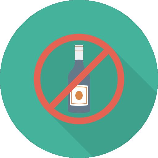 No Alcohol Icon Medical Dinosoftlabs