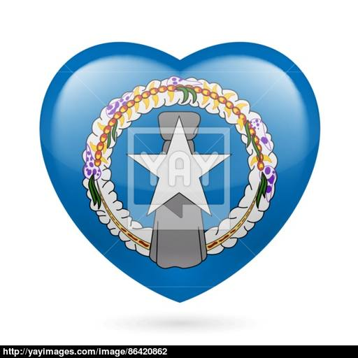 Heart Icon Of Northern Mariana Islands Vector