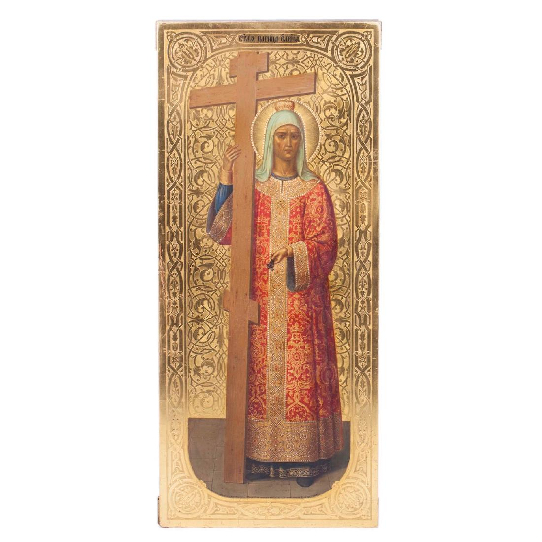 Rare Russian Icon Of Saint Elena