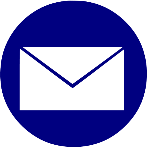 Navy Blue Email Icon