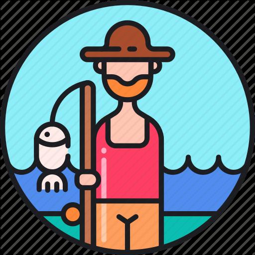 Fish, Fish Farmer, Fisher, Fisherman, Fishing, Fishmonger Icon