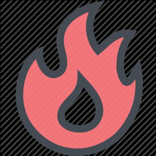 Blaze, Fire, Gas, Hot, Industry, Power Icon
