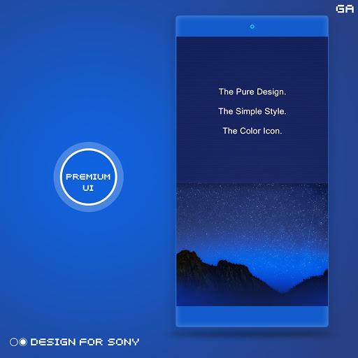 Theme Premium Indigo For Xperia Latest Version