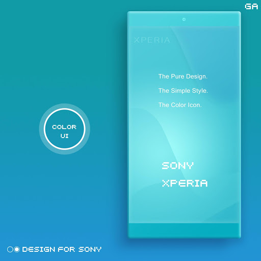 Xperia Theme A Cyan Design For Sony Latest Version Apk