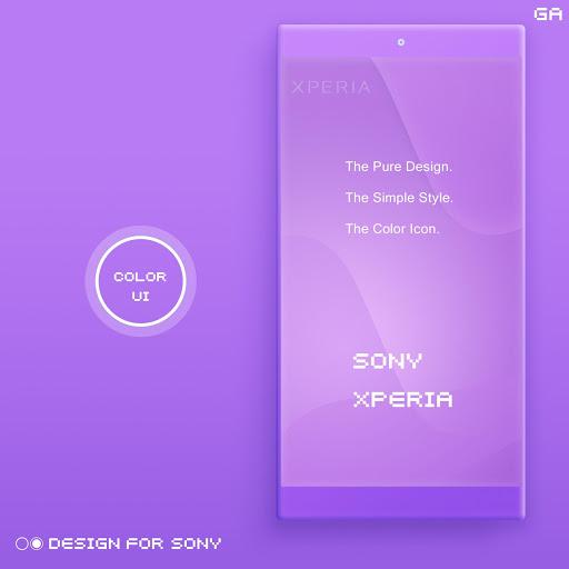 Xperia Theme A Purple Design For Sony Latest Version Apk