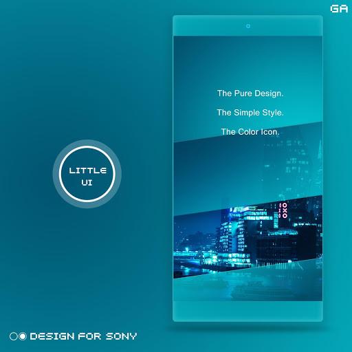 Xperia Theme A Cyan Design For Sony Apk