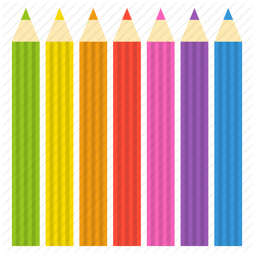 Color Pencil, Colorful, Painting, School, School Supplies Icon