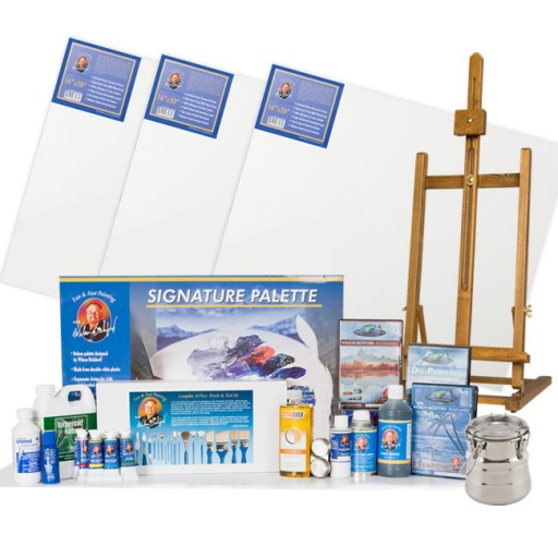 Wilson Bickford Fun Fast Oil Painting Kit With Free Dvd