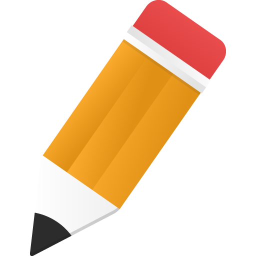 Edit Icon Orange Pencil