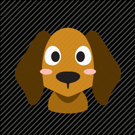 Animal, Cute, Dog, Domestic, Front, Head, Pet Icon