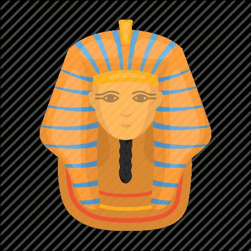 Ancient, Egyptian, Face, Gold, Mask, Pharaoh Icon