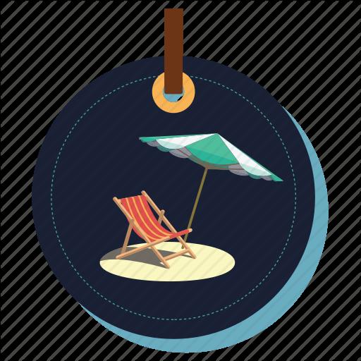 Armchair, Beachchair, Beachmasti, Chair, Seat, Umbrella Icon
