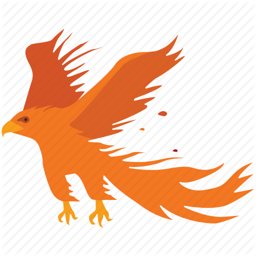 Ashes, Bird, Fire, Phoenix, Renewal, Resurrection, Rise Icon