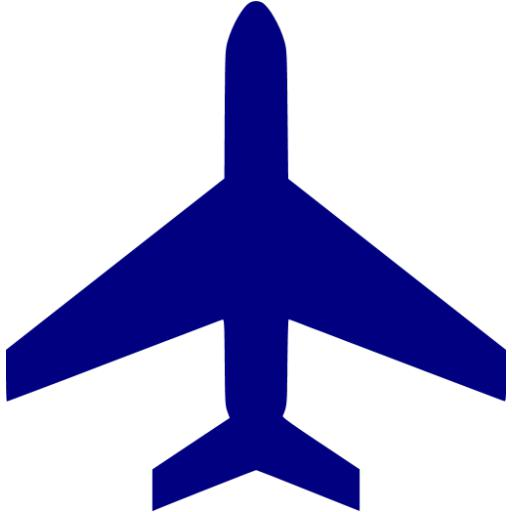 Navy Blue Plane Clipart Collection