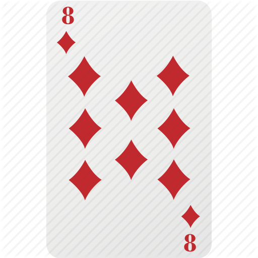 Card, Diamond, Eight, Hazard, Playing Cards, Poker Icon