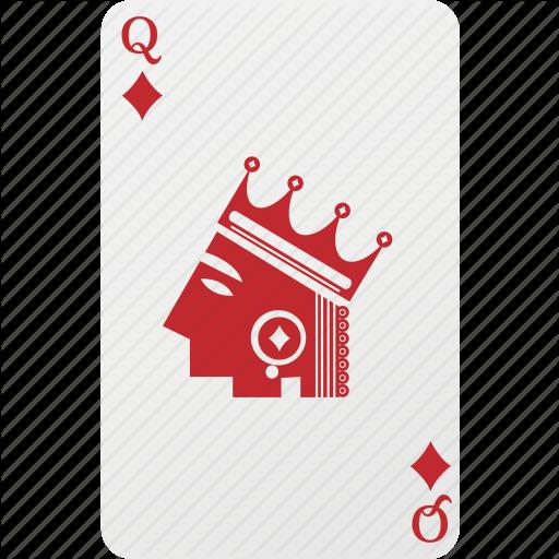 Card, Diamond, Hazard, Playing Cards, Poker, Queen Icon