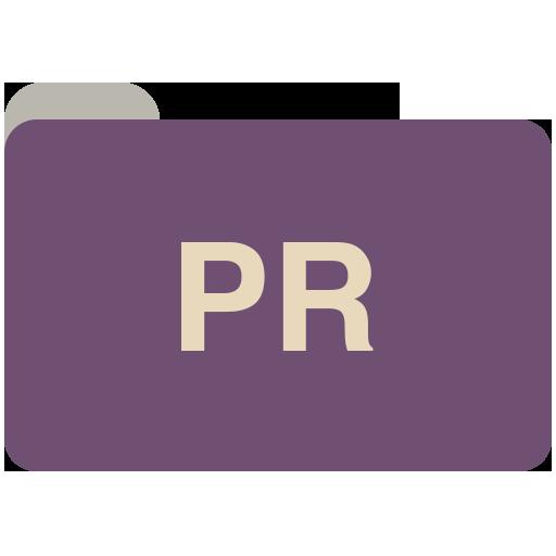 Pr Icon Adobe Cc Folders Iconset Grafikartes