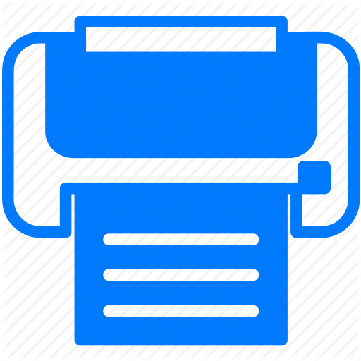 Blue, Document, File, Print, Printer, Printing Icon