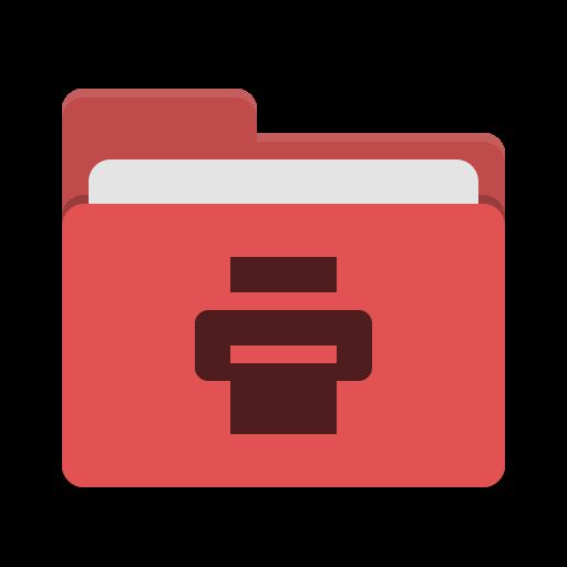 Folder Red Print Icon Papirus Places Iconset Papirus