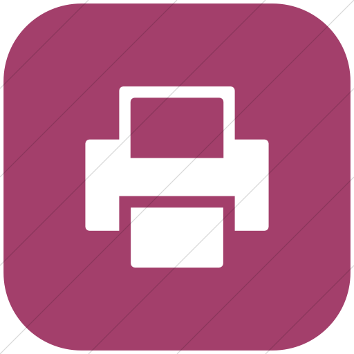 Flat Rounded Square White On Pink Foundation Print Icon