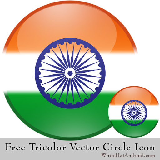 Free Giveaway Indian Tricolor Vector Flag Icon