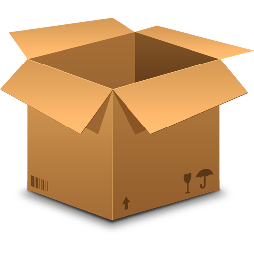 Realistic Cardboard Box Icon